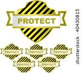 vector protect shield. vector... | Shutterstock .eps vector #40430815