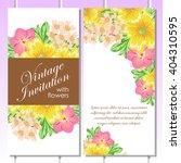romantic invitation. wedding ... | Shutterstock .eps vector #404310595