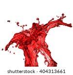red juice splash closeup... | Shutterstock . vector #404313661