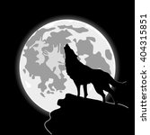 Howling Wolf In Front Of The...