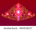 hand drawn princess tiara with... | Shutterstock .eps vector #404318227