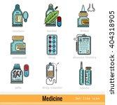 color set kinds of medicine...