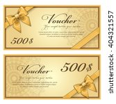 gift voucher template with a... | Shutterstock .eps vector #404321557
