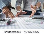 hands of creative team... | Shutterstock . vector #404324227