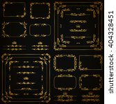 vector set of gold decorative... | Shutterstock .eps vector #404328451