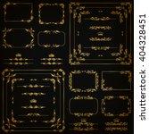 vector set of gold decorative...   Shutterstock .eps vector #404328451