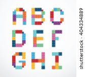 Alphabet Blocks Style Vector...