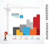 infographic template with crane ... | Shutterstock .eps vector #404335954