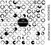 set of 100 grunge circle brush... | Shutterstock . vector #404343481