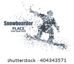 skiers particle divergent... | Shutterstock .eps vector #404343571