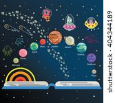 the universe kids  solar system ... | Shutterstock .eps vector #404344189