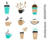 modern label coffee set. ... | Shutterstock .eps vector #404344741