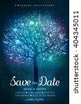 wedding invitation card. ... | Shutterstock .eps vector #404345011