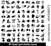 set of food and drinks icons.... | Shutterstock . vector #404348071