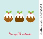 christmas pudding | Shutterstock .eps vector #404351614