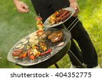 Close Up Of Summer Barbecue In...