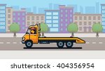 empty tow truck  city... | Shutterstock .eps vector #404356954
