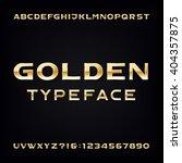 golden alphabet font. modern... | Shutterstock .eps vector #404357875