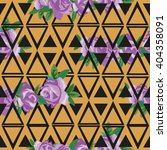 flowers roses pattern geometry  ... | Shutterstock .eps vector #404358091
