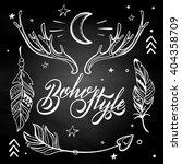 vector set of boho style... | Shutterstock .eps vector #404358709
