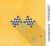 checkered flag flat  icon with... | Shutterstock .eps vector #404364847