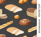 seamless vector bread pattern.... | Shutterstock .eps vector #404367169