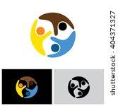 friends vector logo icon in eps ...   Shutterstock .eps vector #404371327