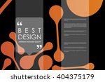 set of brochure  poster design... | Shutterstock .eps vector #404375179