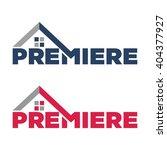 premiere logotype. roof logo... | Shutterstock .eps vector #404377927