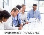 business colleagues discussing... | Shutterstock . vector #404378761