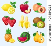 fruits set  color vector... | Shutterstock .eps vector #404384215