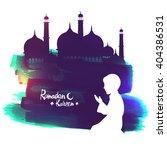 white silhouette of a islamic...   Shutterstock .eps vector #404386531