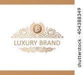 calligraphic crest luxury line...   Shutterstock .eps vector #404388349