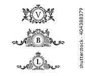 vintage logo crest elements.... | Shutterstock .eps vector #404388379