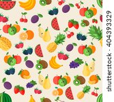 flat fruits seamless pattern.... | Shutterstock .eps vector #404393329