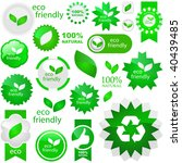 set of natural labels. great...   Shutterstock .eps vector #40439485