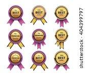 vector set of top quality... | Shutterstock .eps vector #404399797