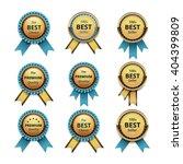 vector set of top quality... | Shutterstock .eps vector #404399809
