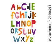 Vector Illustration of the English alphabet. abc. Lettering. Multicolored letters. Education of children. Poster. | Shutterstock vector #404406055