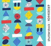 funny geometric seamless... | Shutterstock .eps vector #404408569