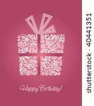 Detailed Pink Happy Birthday...