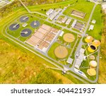 aerial view to biogas plant... | Shutterstock . vector #404421937