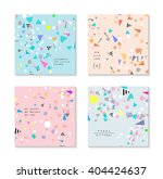 collection of party cards and... | Shutterstock .eps vector #404424637