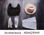 still life of outfit of womens. ... | Shutterstock . vector #404429449