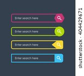 search bars. flat design... | Shutterstock .eps vector #404429671