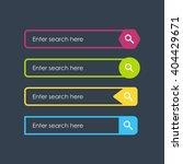 search bars. flat design... | Shutterstock .eps vector #404429671