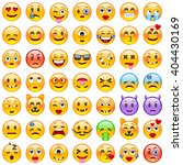 set of emoticons. set of emoji. ...