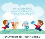 superhero kids at playground ... | Shutterstock .eps vector #404435569