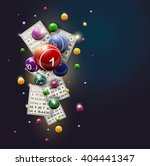 bingo balls and cards design on ... | Shutterstock .eps vector #404441347