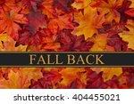 Fall Back Time Change Message ...